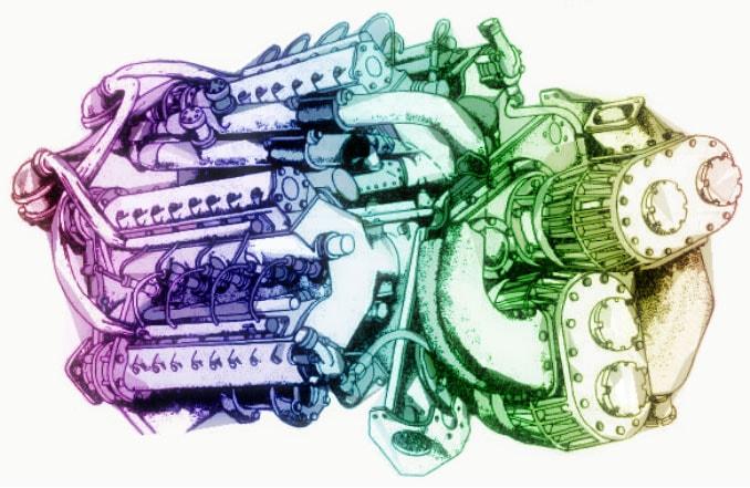 Двигатель с нагнетателем