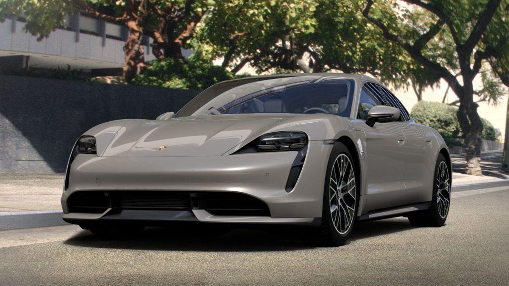 Porsche Taycan Turbo Coffee Beige