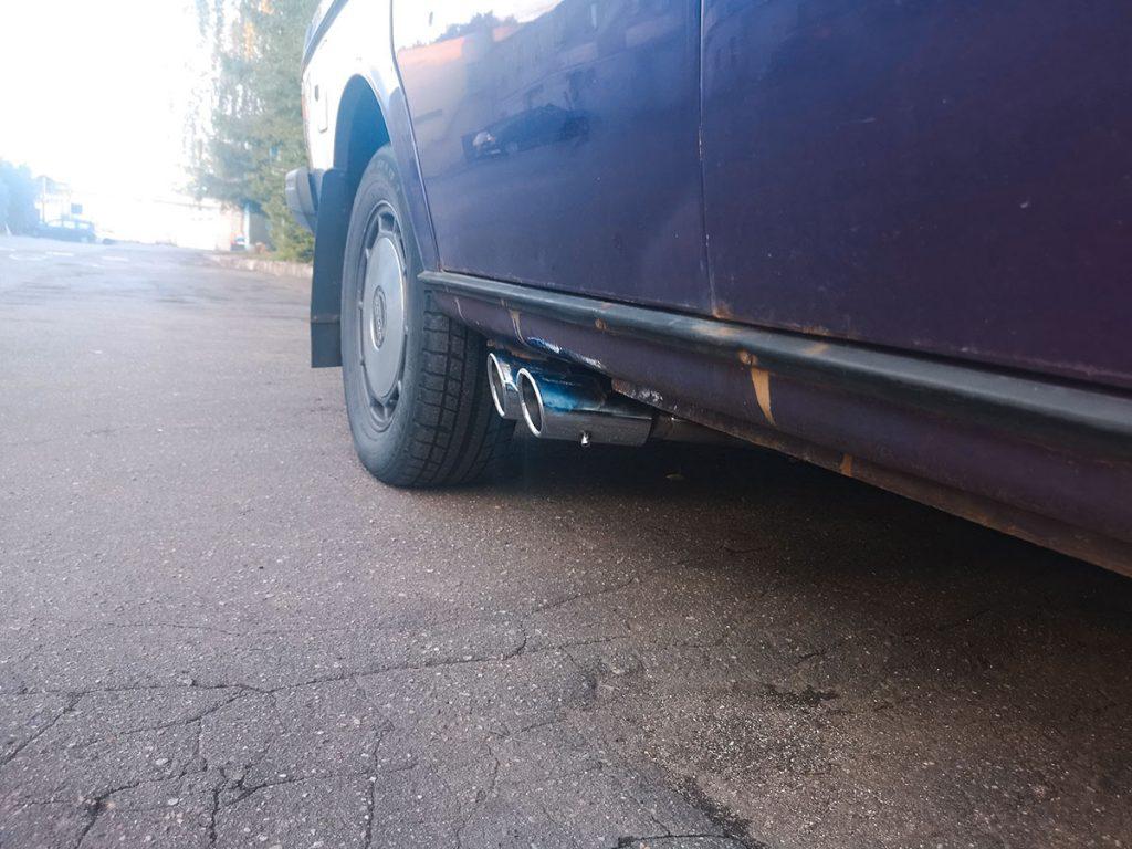 Выхлоп на Volvo 245