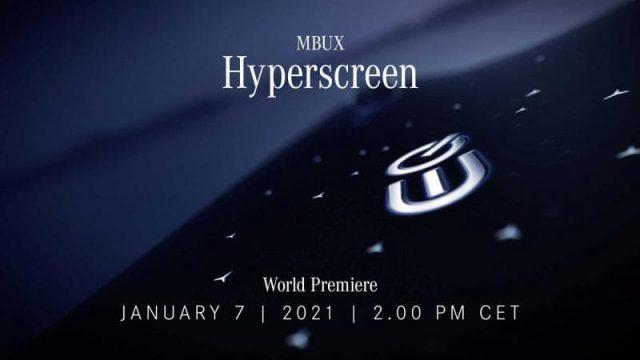 Дисплей Mercedes-Benz Hyperscreen